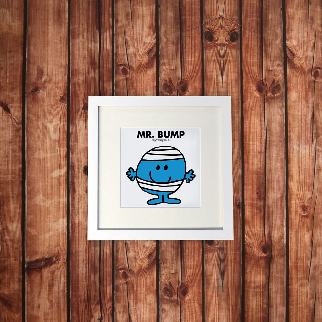 Mr. Bump White Framed Print (Lifestyle)