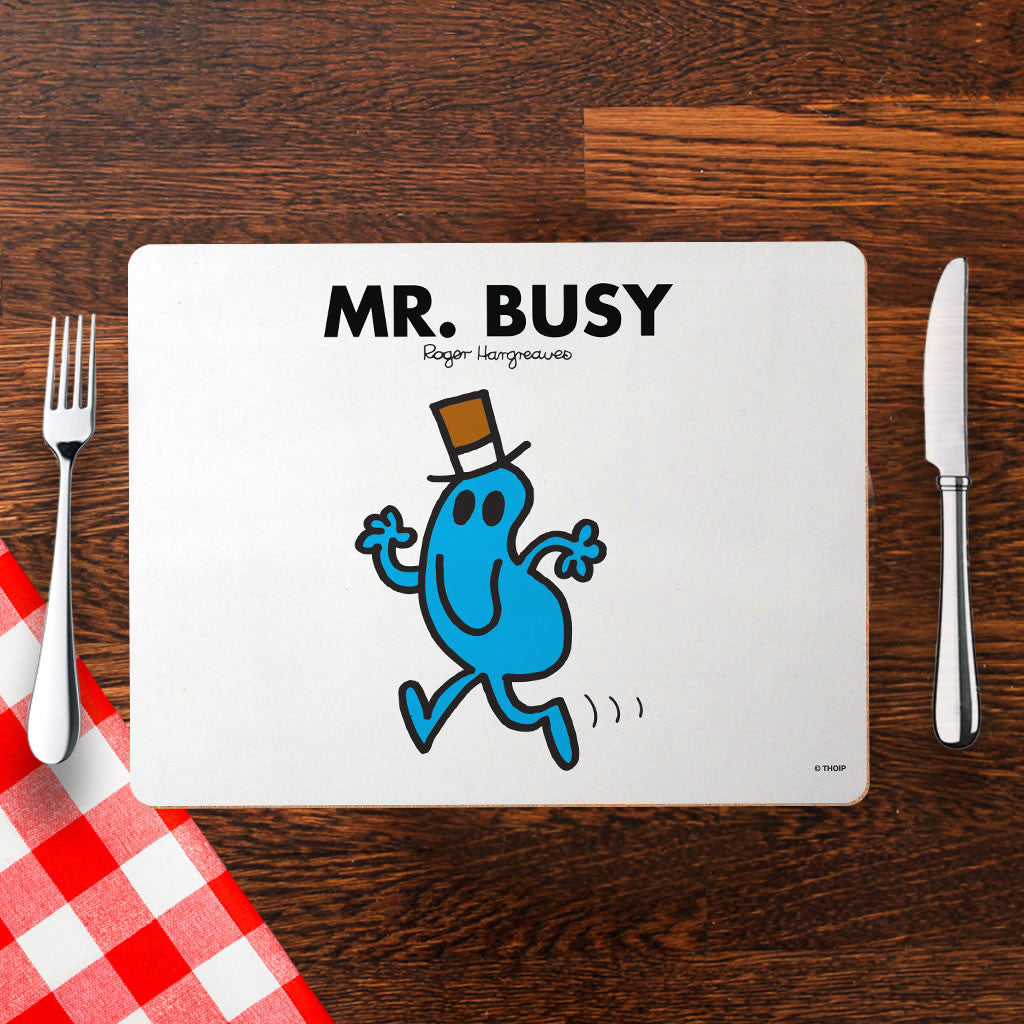 Mr. Busy Cork Placemat (Lifestyle)