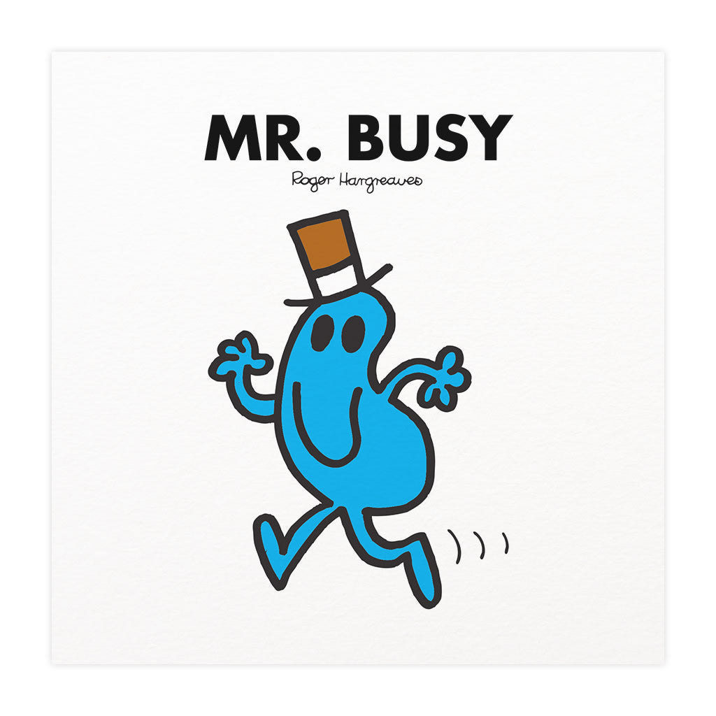 Mr. Busy Mounted Art Print