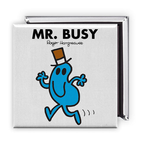 Mr. Busy Square Magnet