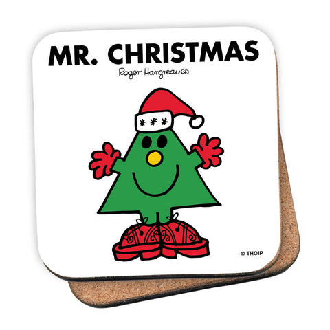 Mr. Christmas Cork Coaster