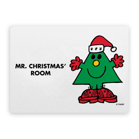 Mr. Christmas Door Plaque