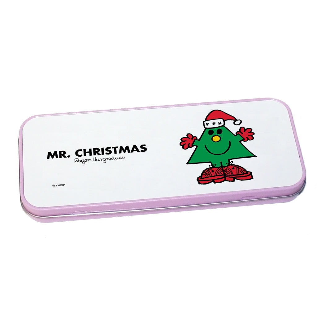 Mr. Christmas Pencil Case Tin (Pink)