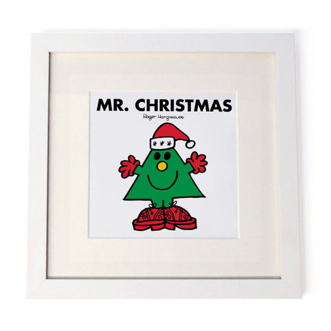 Mr. Christmas White Framed Print
