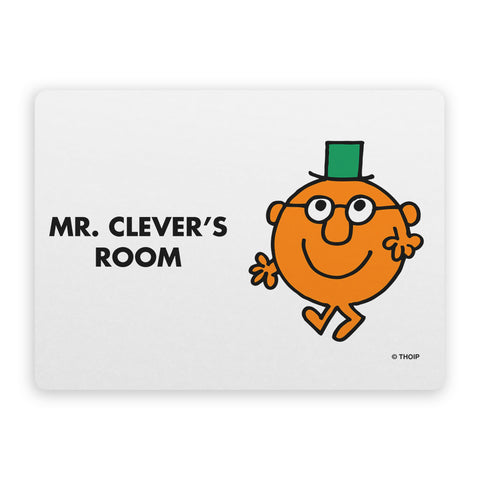 Mr. Clever Door Plaque