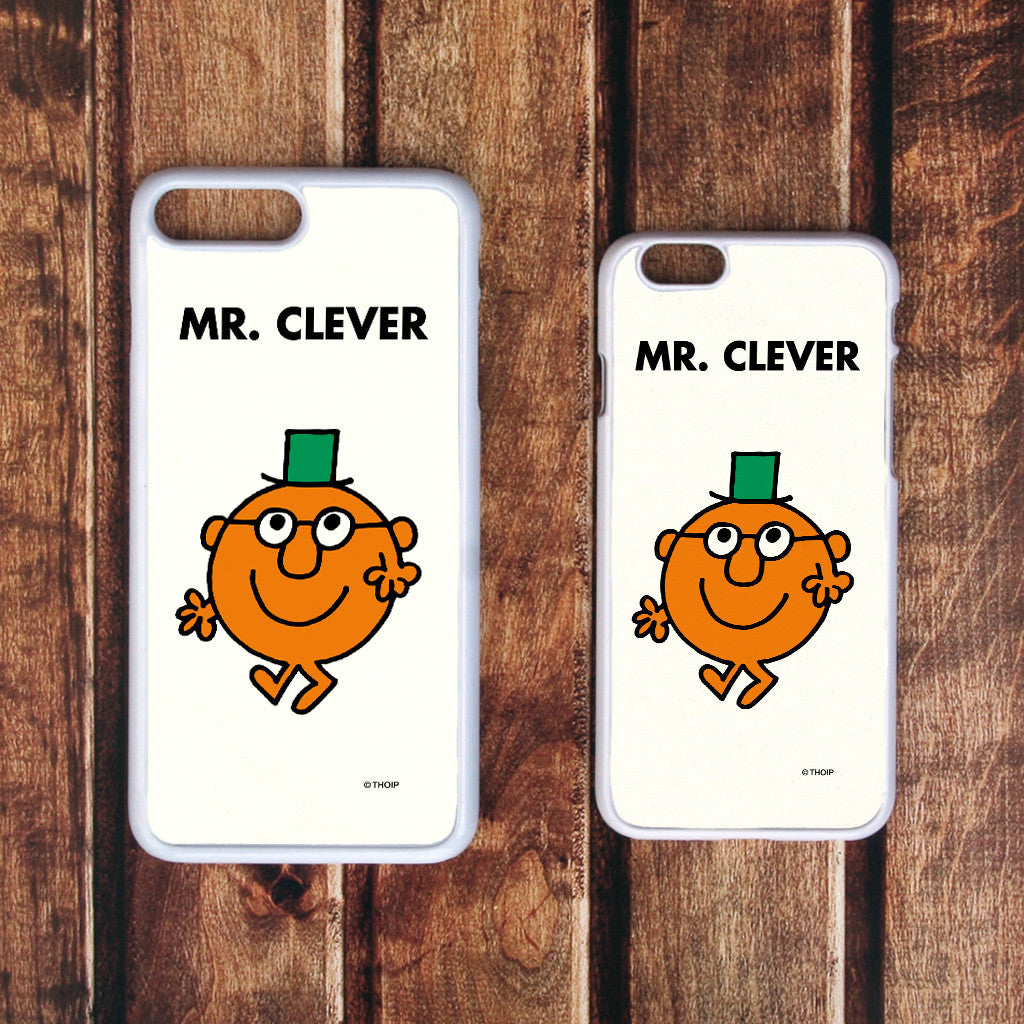 Mr. Clever White Phone Case (Lifestyle)