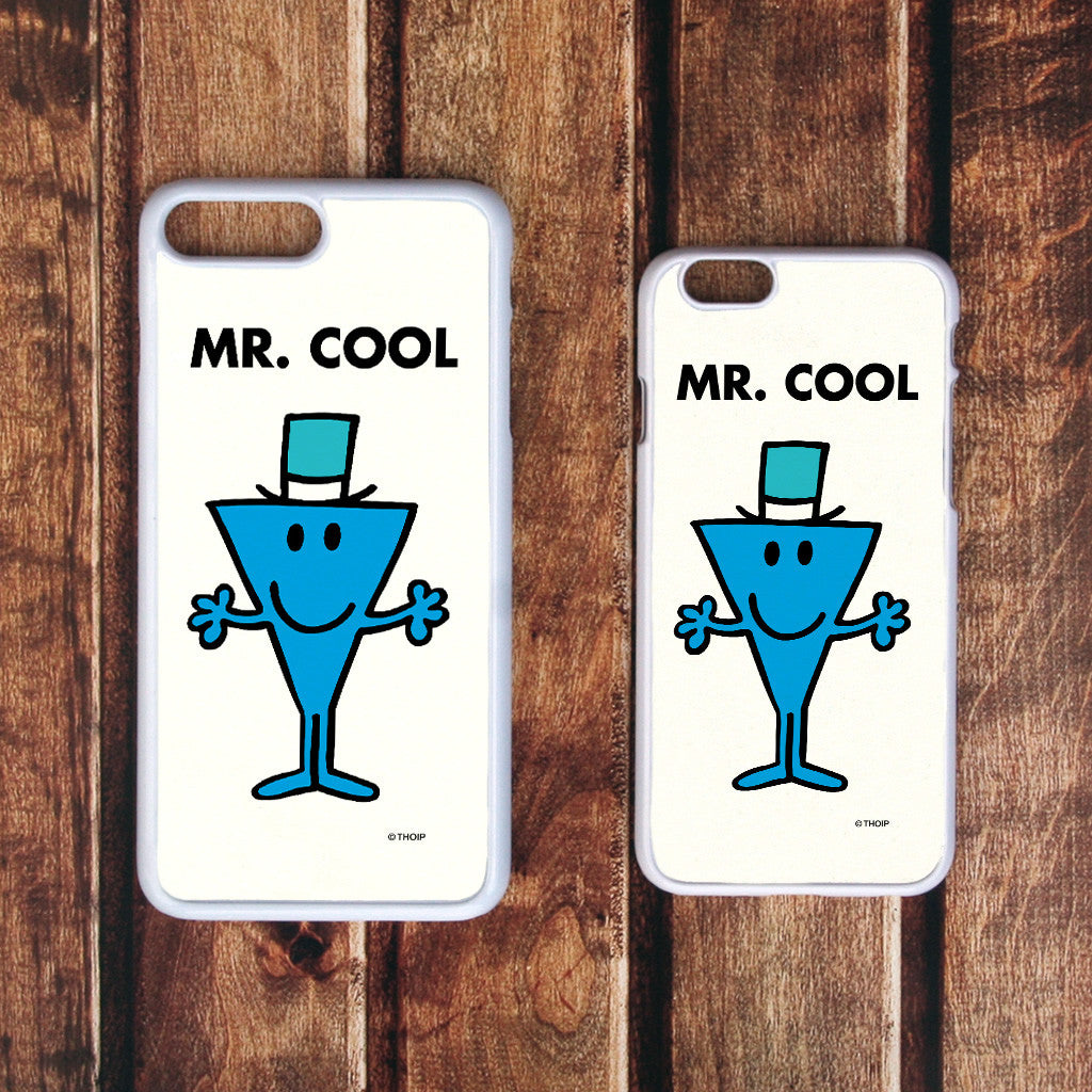 Mr. Cool White Phone Case (Lifestyle)