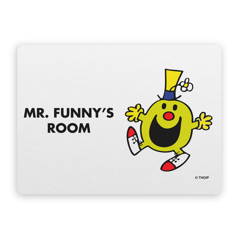 Mr. Funny Door Plaque