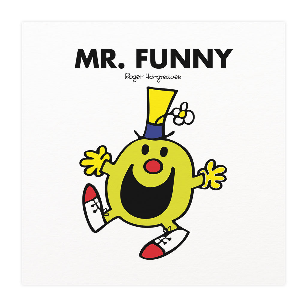 Mr. Funny Mounted Art Print