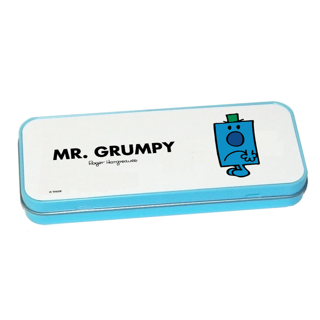 Mr. Grumpy Pencil Case Tin (Blue)