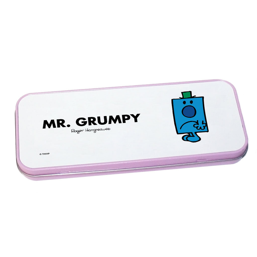 Mr. Grumpy Pencil Case Tin (Pink)