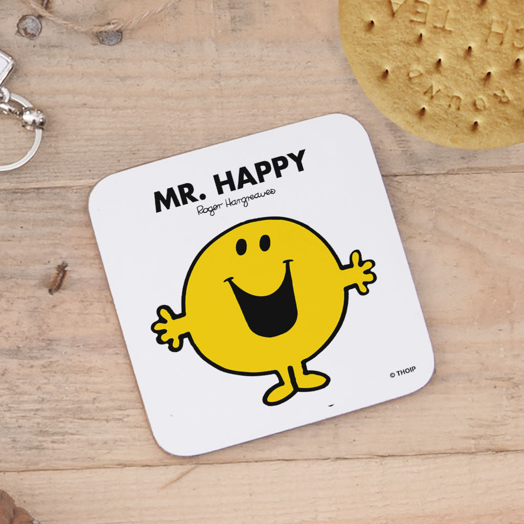 Mr. Happy Cork Coaster (Lifestyle)
