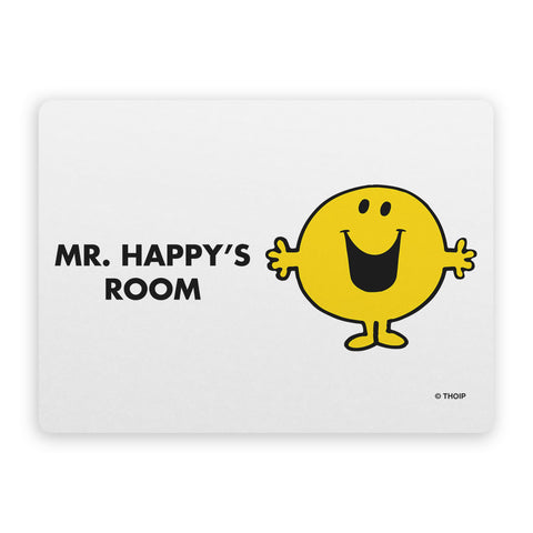 Mr. Happy Door Plaque