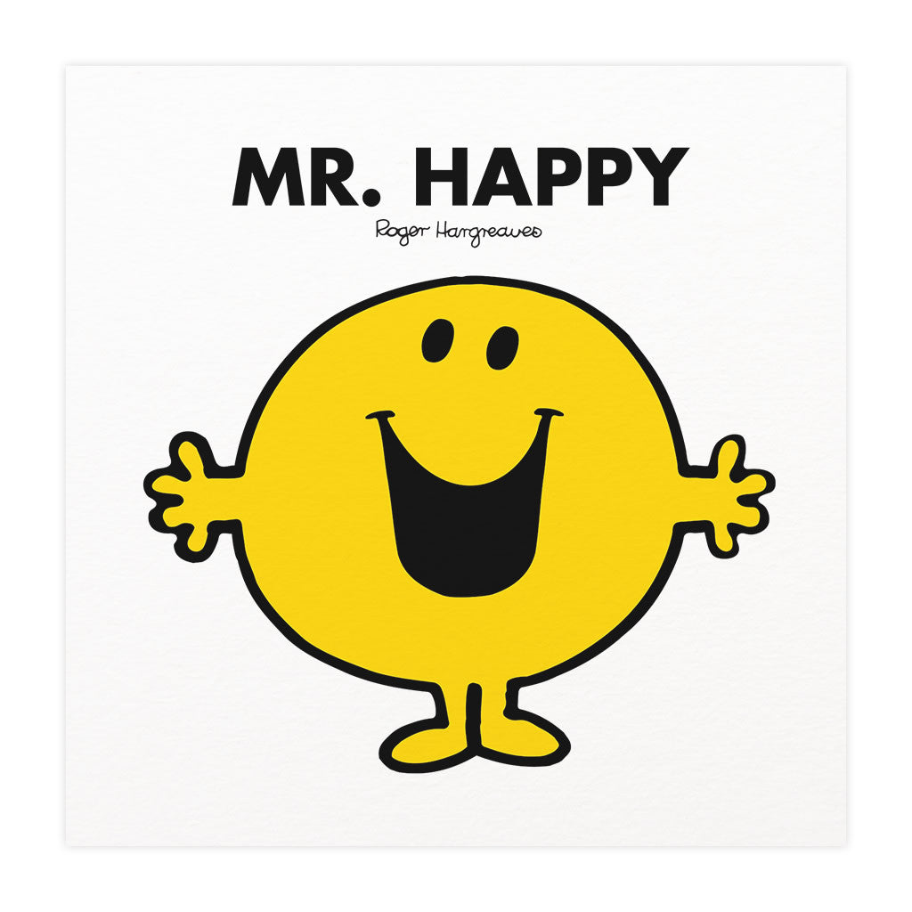 Mr. Happy Mounted Art Print