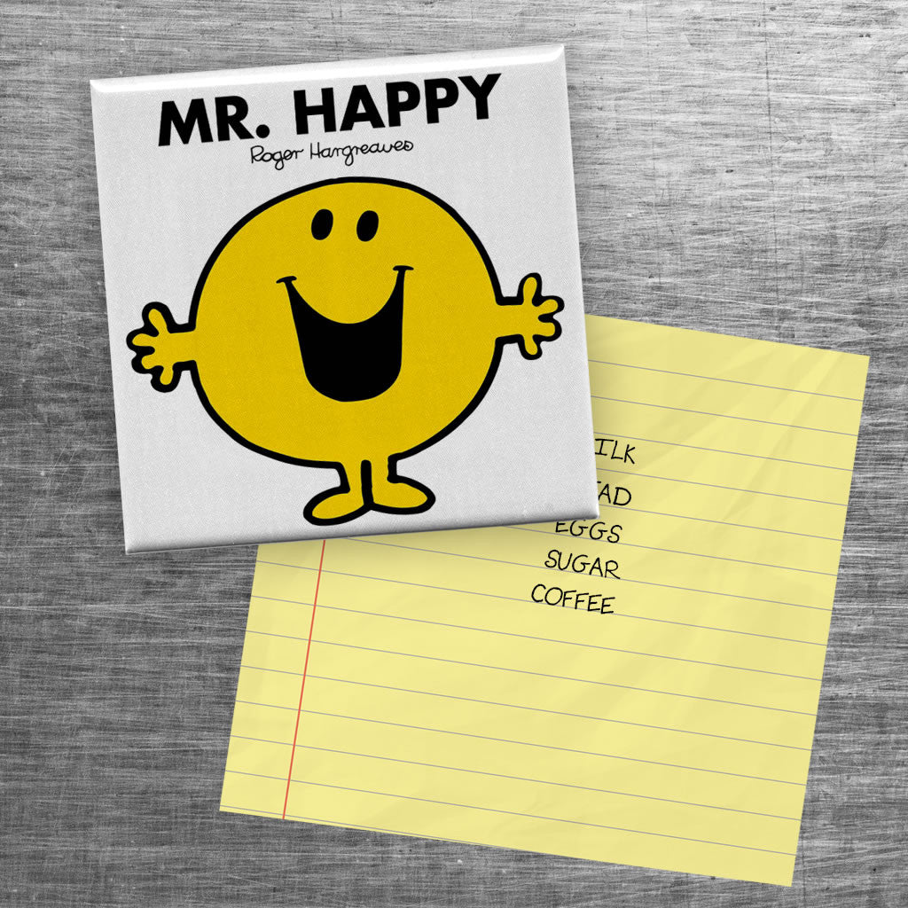Mr. Happy Square Magnet (Lifestyle)