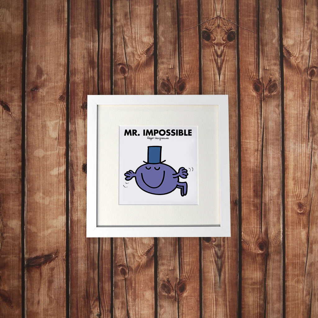 Mr. Impossible White Framed Print (Lifestyle)