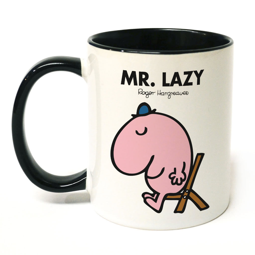 Mr. Lazy Large Porcelain Colour Handle Mug
