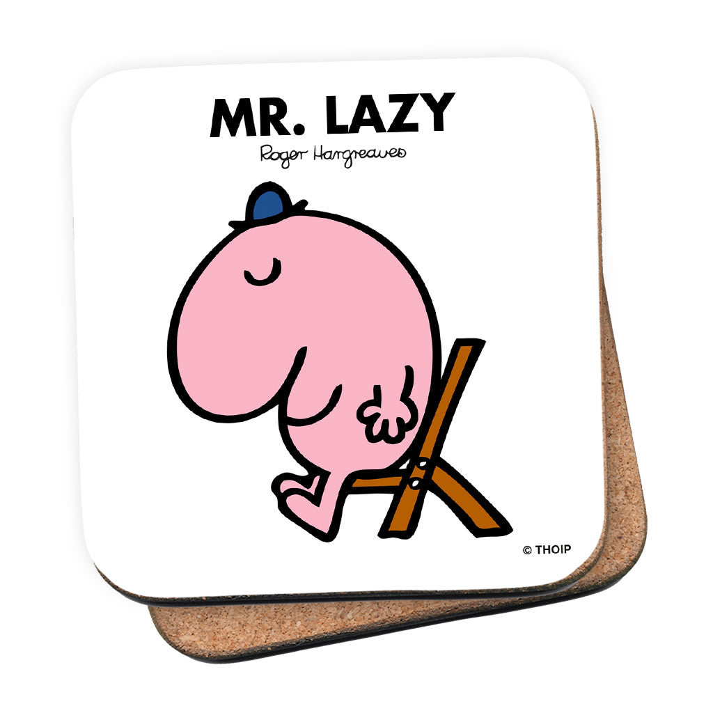 Mr. Lazy Cork Coaster