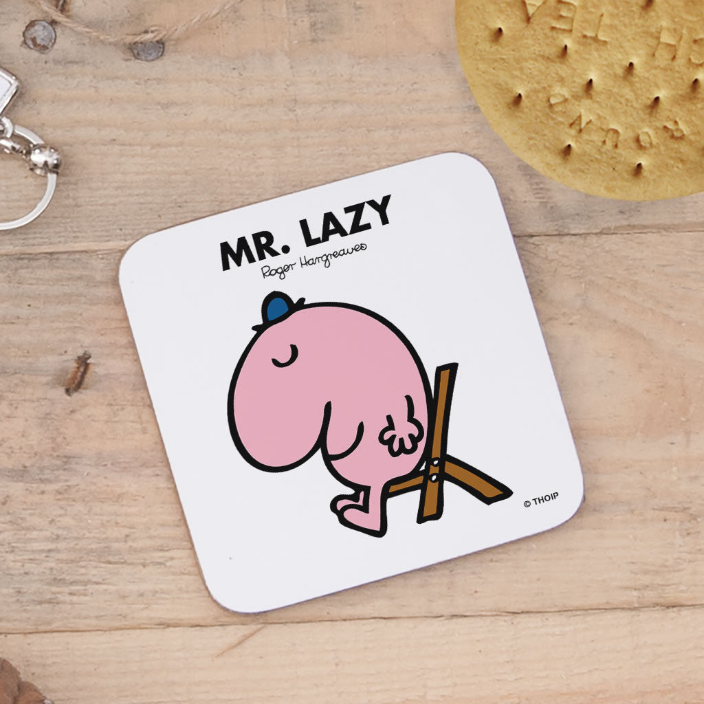 Mr. Lazy Cork Coaster (Lifestyle)