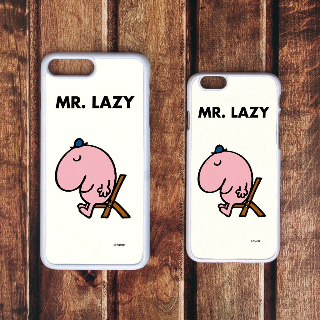 Mr. Lazy White Phone Case (Lifestyle)