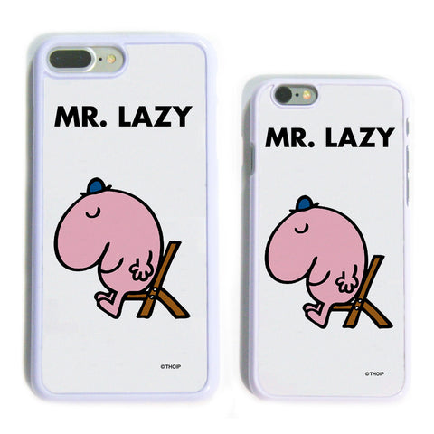 Mr. Lazy White Phone Case