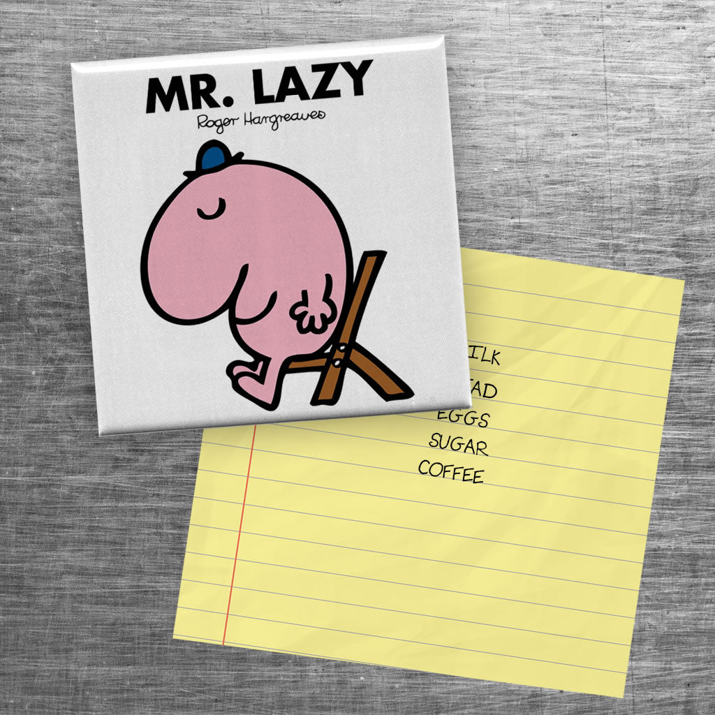 Mr. Lazy Square Magnet (Lifestyle)
