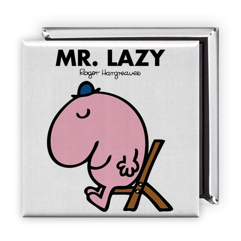 Mr. Lazy Square Magnet