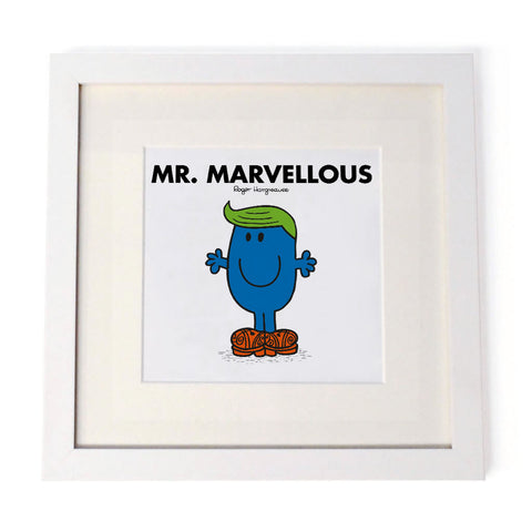 Mr. Marvellous White Framed Print