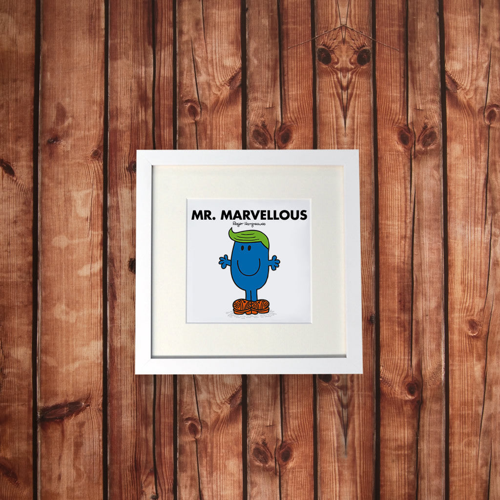 Mr. Marvellous White Framed Print (Lifestyle)