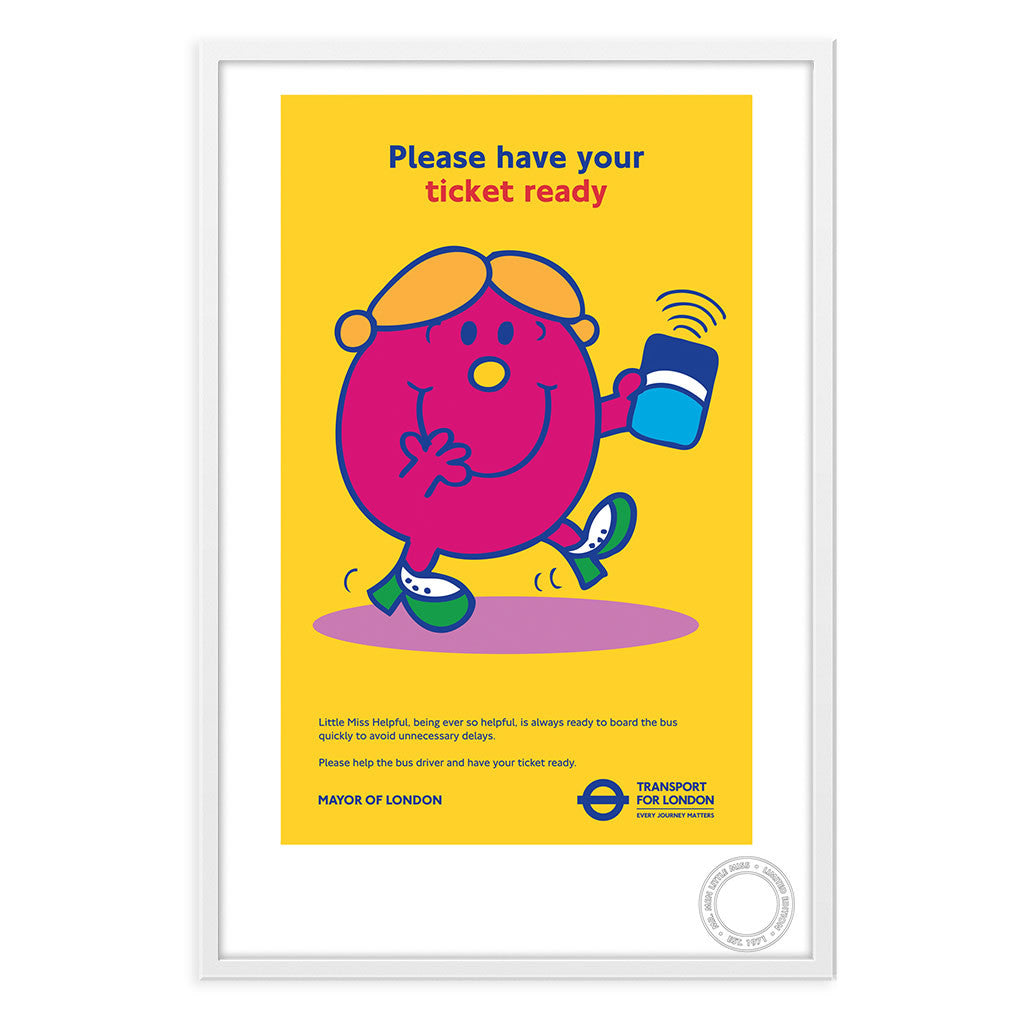 Little Miss Helpful TFL Limited Edition Print
