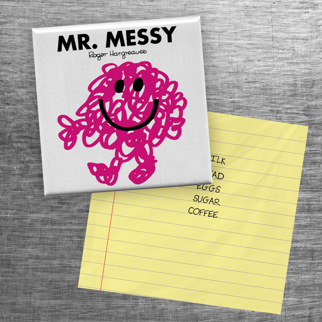 Mr. Messy Square Magnet (Lifestyle)