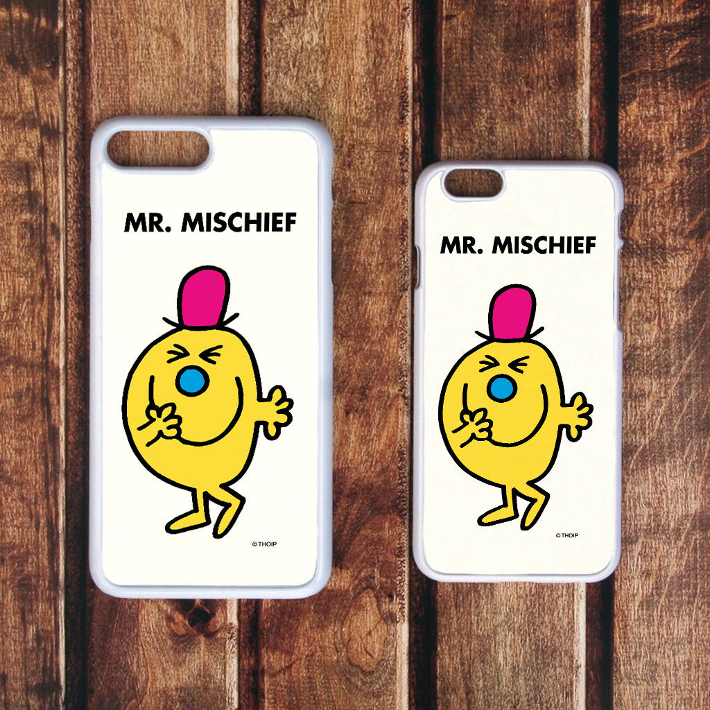 Mr. Mischief White Phone Case (Lifestyle)