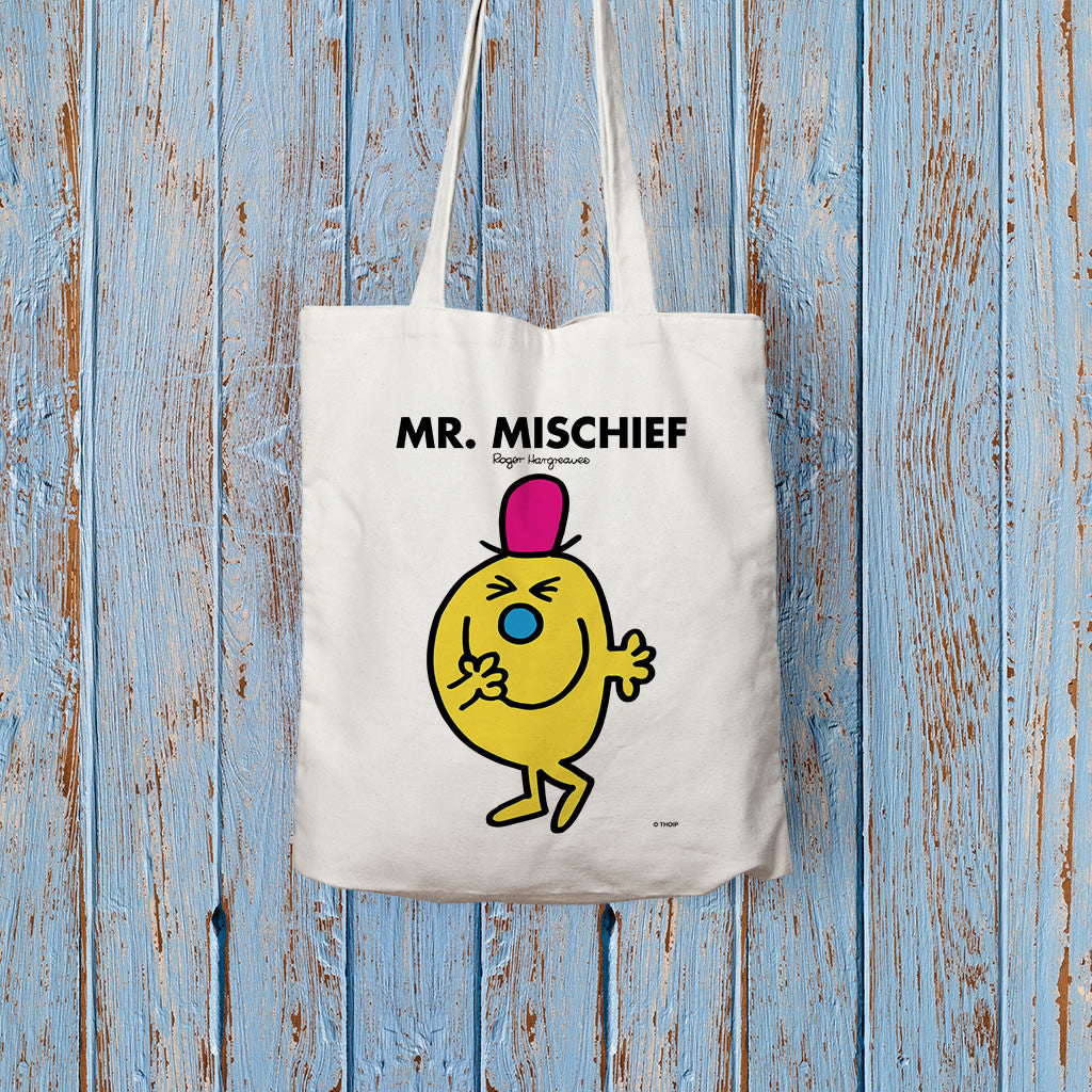 Mr. Mischief Long Handled Tote Bag (Lifestyle)