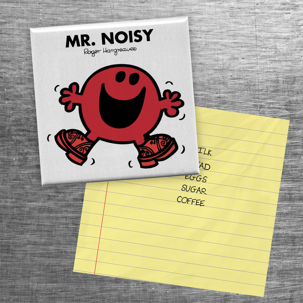 Mr. Noisy Square Magnet (Lifestyle)