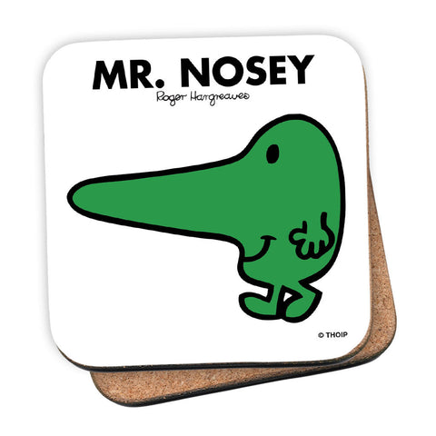 Mr. Nosey Cork Coaster