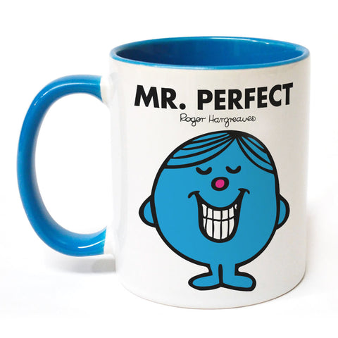 Mr. Perfect Large Porcelain Colour Handle Mug