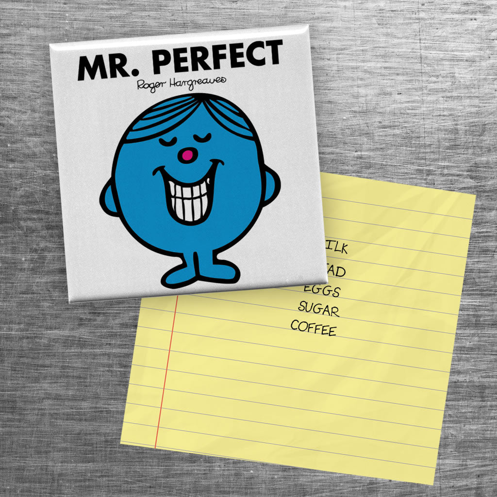Mr. Perfect Square Magnet (Lifestyle)