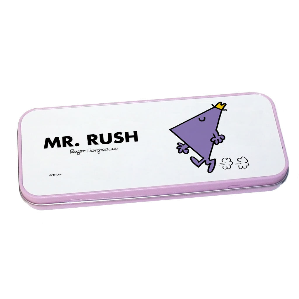 Mr. Rush Pencil Case Tin (Pink)