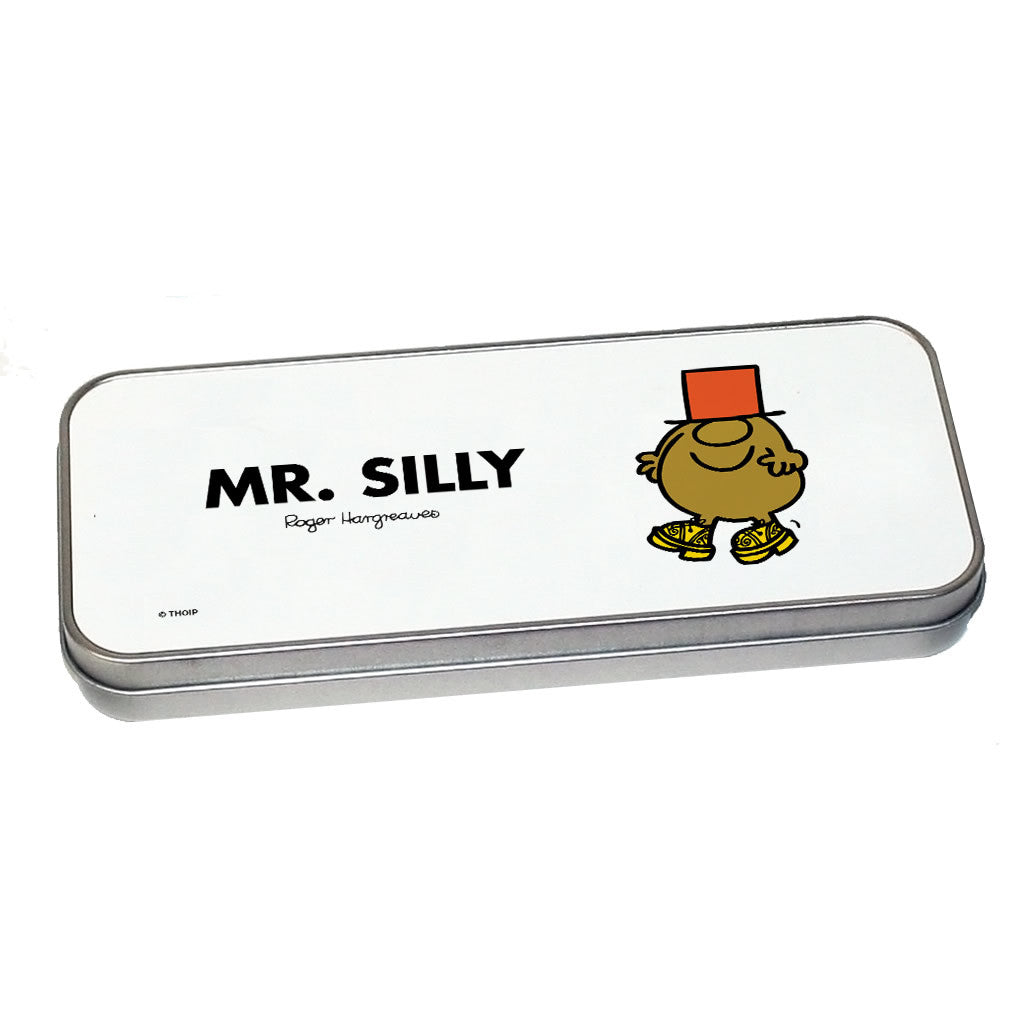 Mr. Silly Pencil Case Tin (Silver)
