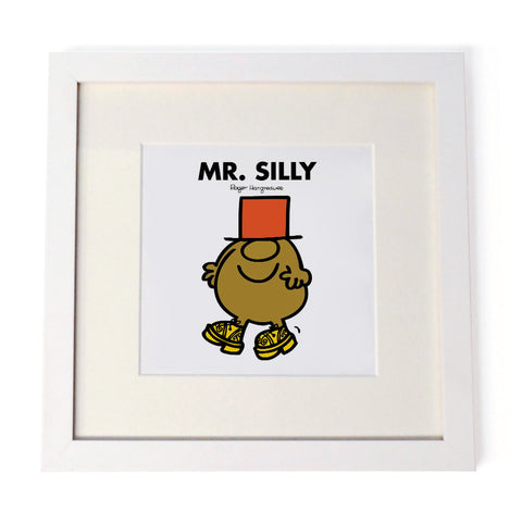 Mr. Silly White Framed Print
