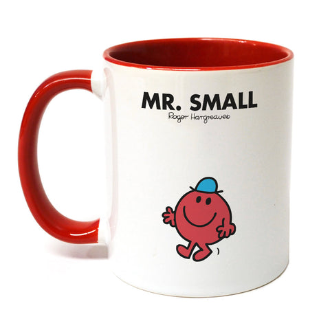 Mr. Small Large Porcelain Colour Handle Mug