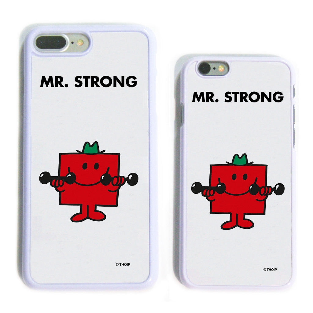 Mr. Strong White Phone Case