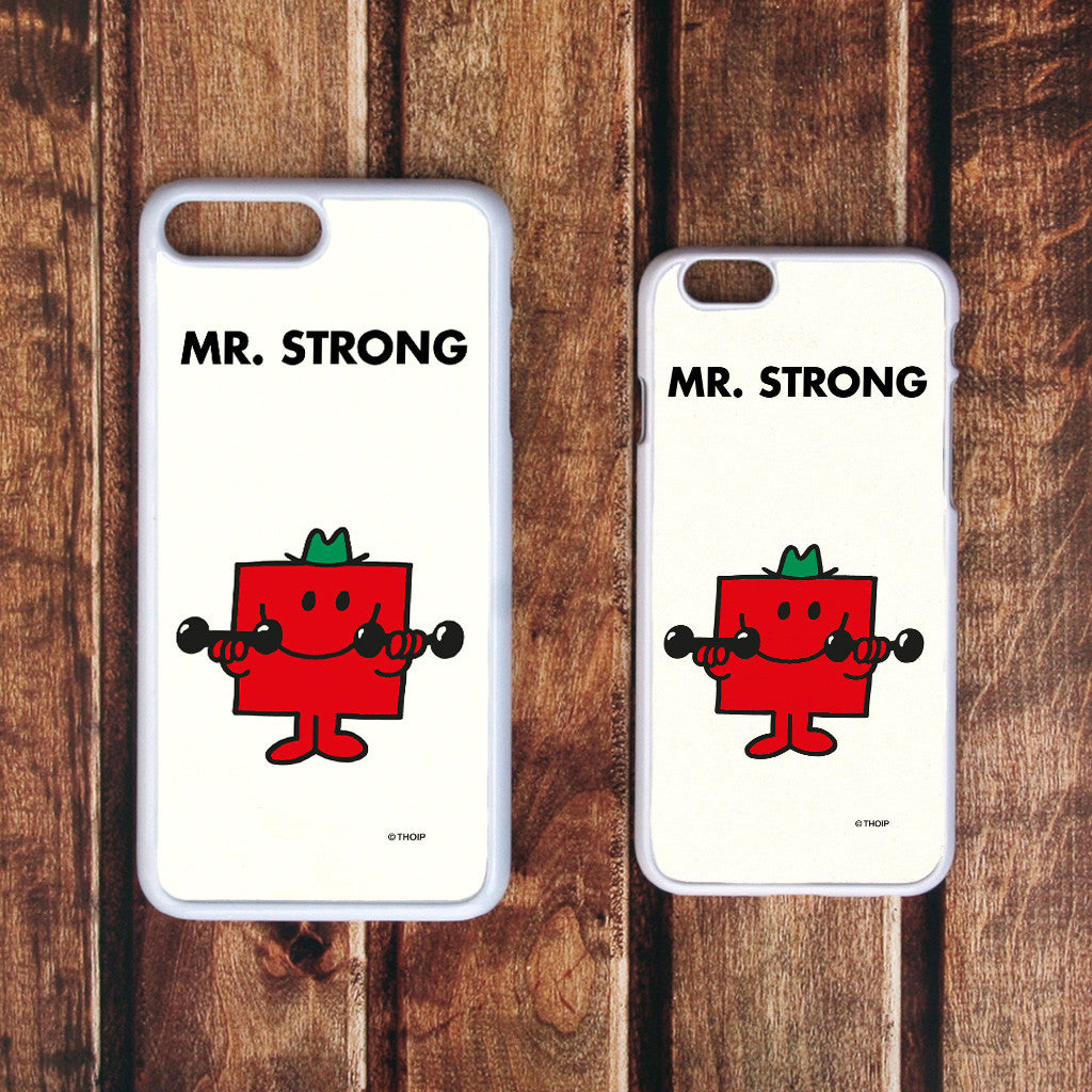 Mr. Strong White Phone Case (Lifestyle)