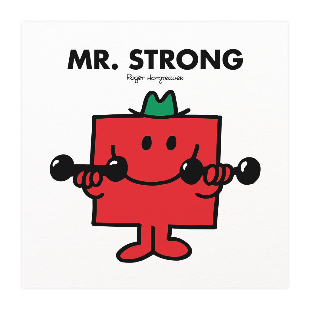 Mr. Strong Mounted Art Print