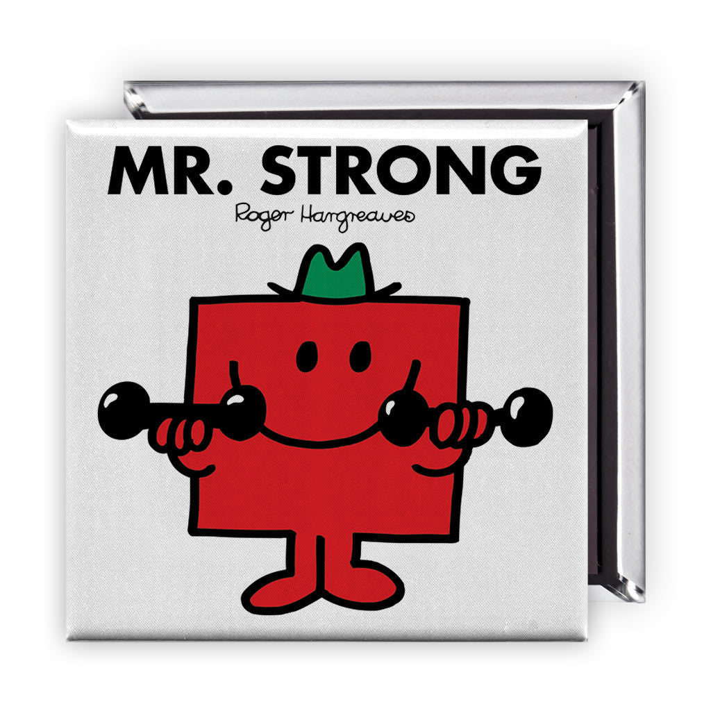 Mr. Strong Square Magnet