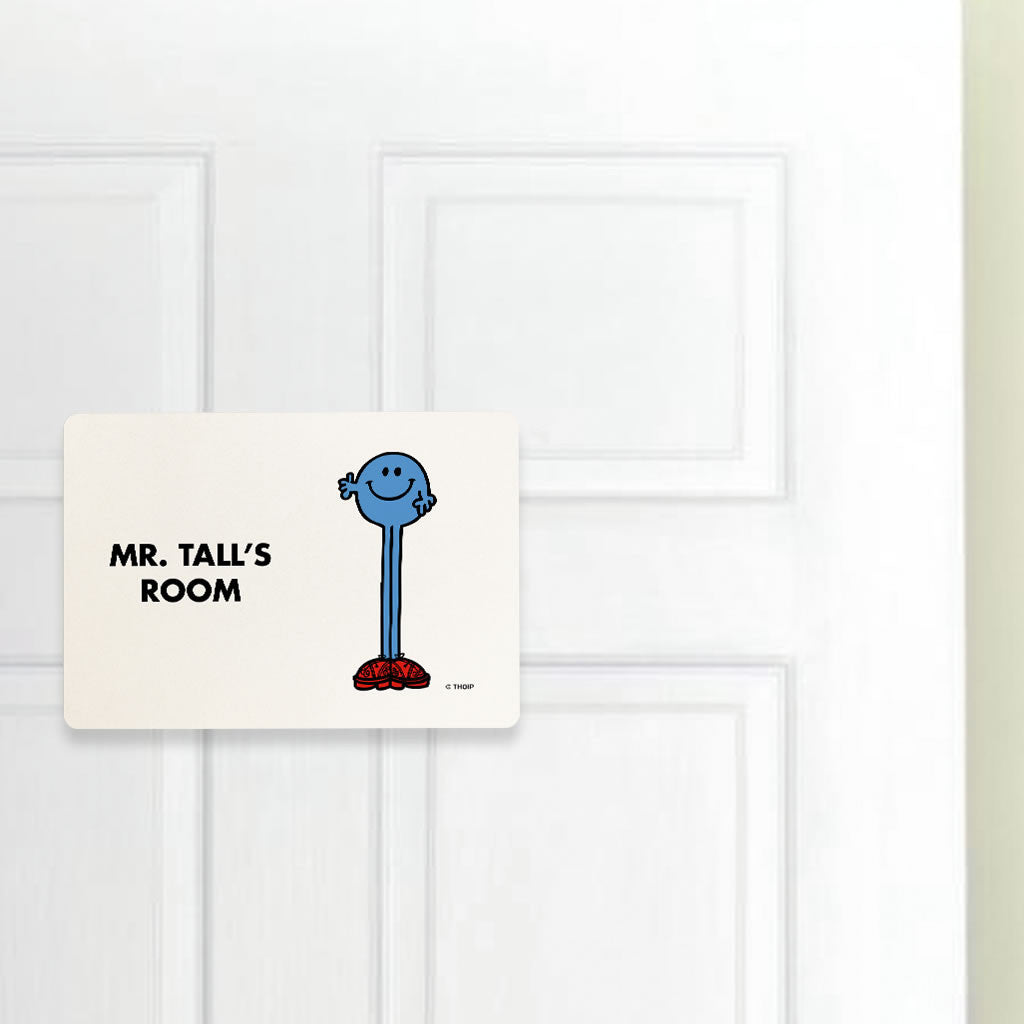 Mr. Tall Door Plaque (Lifestyle)