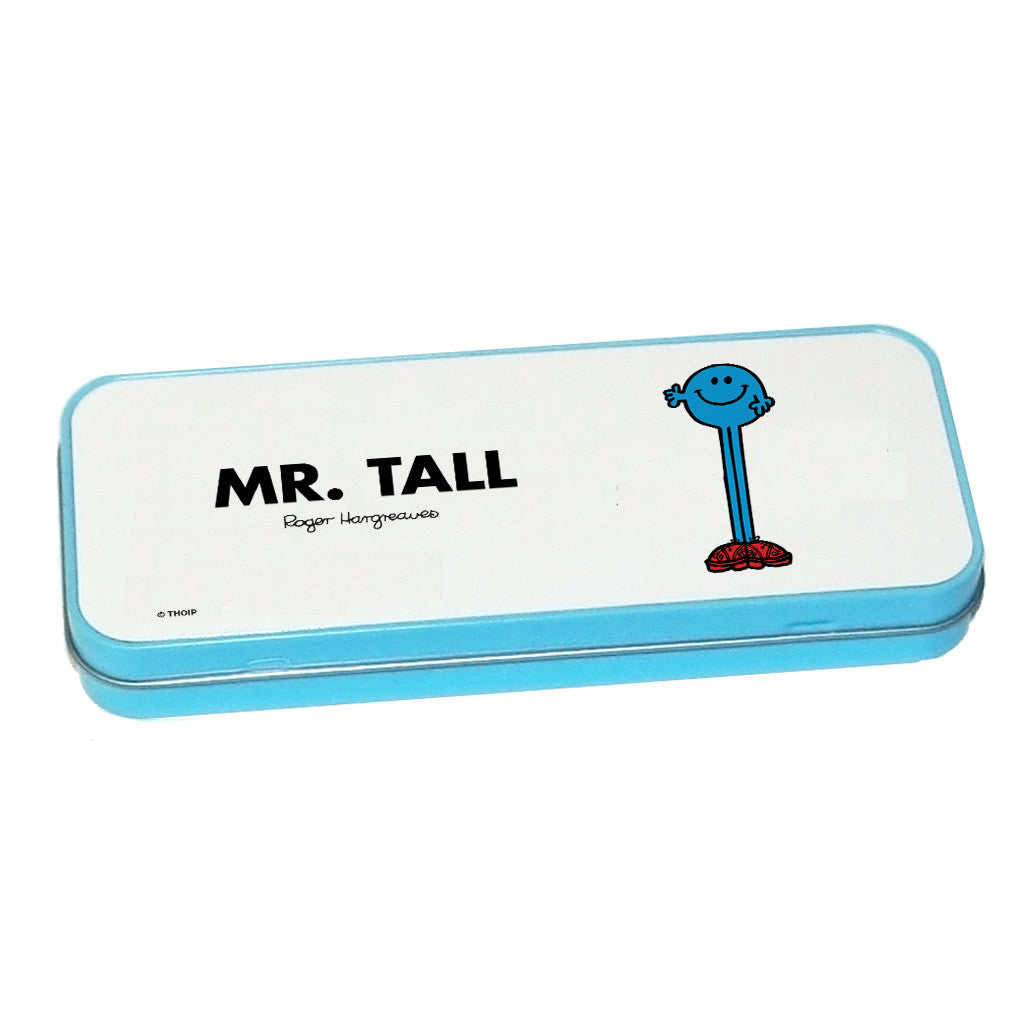 Mr. Tall Pencil Case Tin (Blue)