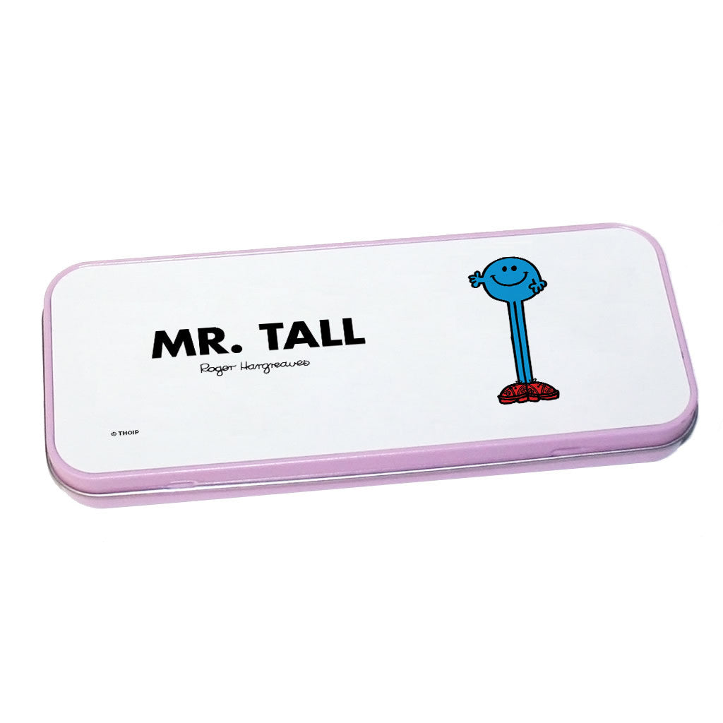 Mr. Tall Pencil Case Tin (Pink)