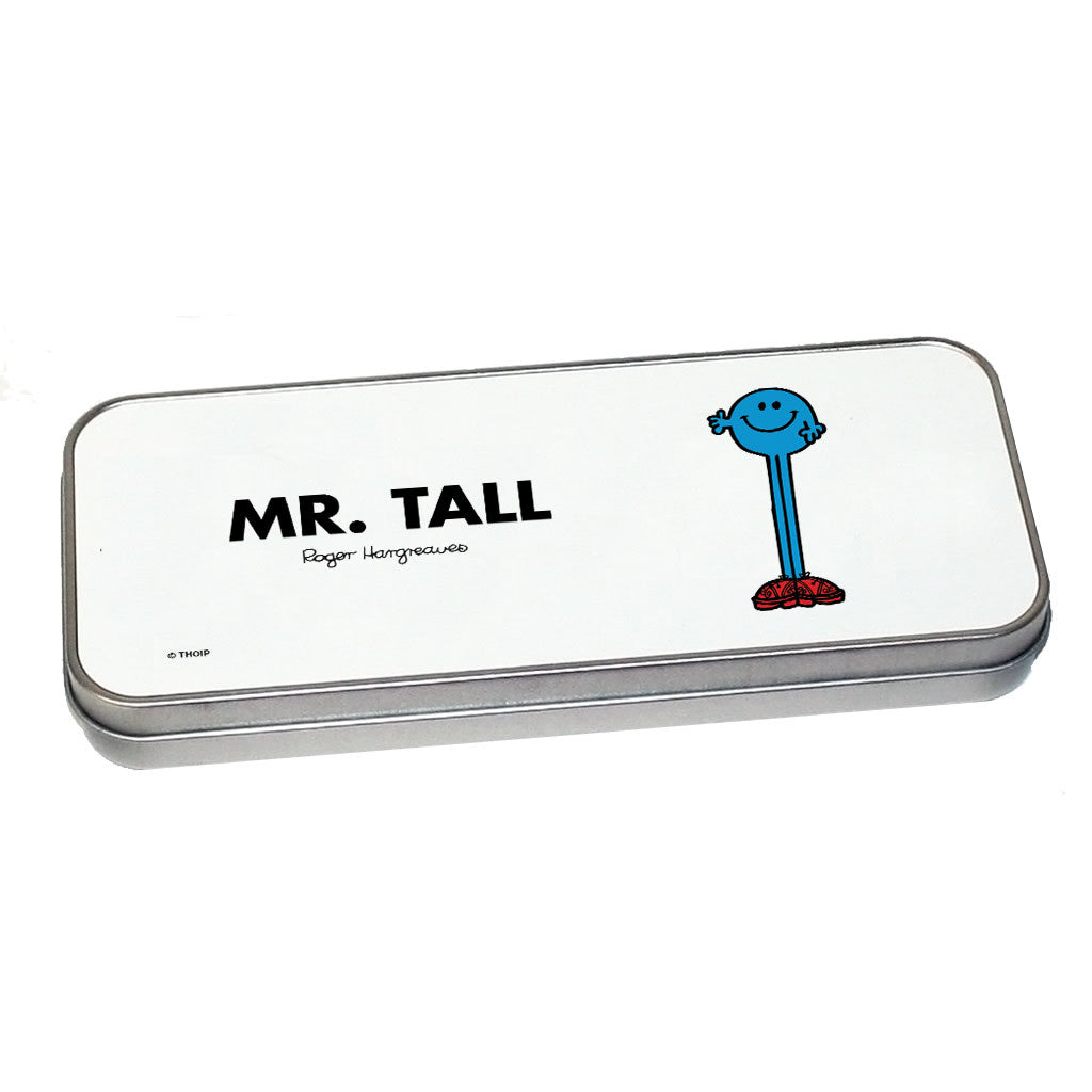 Mr. Tall Pencil Case Tin (Silver)