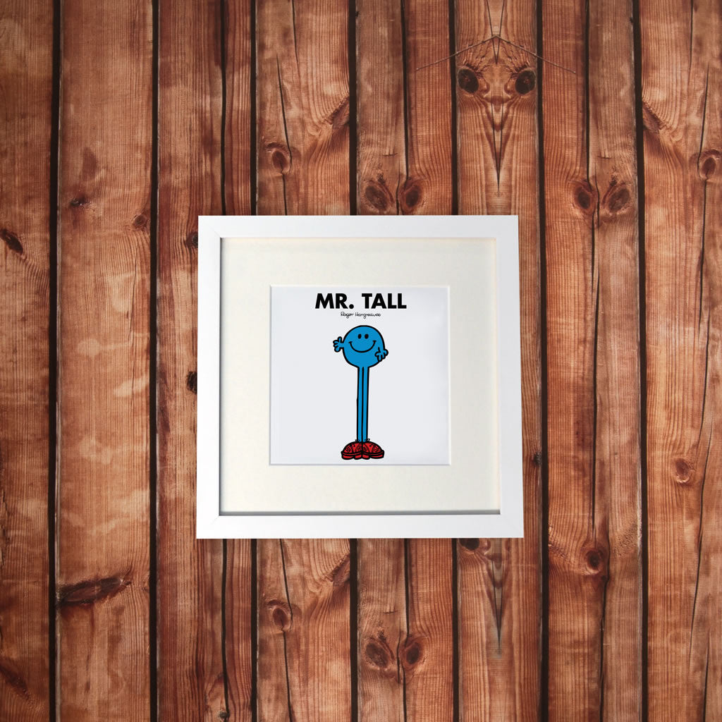 Mr. Tall White Framed Print (Lifestyle)